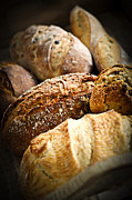 Various Photo Prints - Bread loaves Print by Elena Elisseeva
