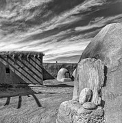 Gary Warnimont Metal Prints - Bread Ovens at Taos Pueblo Metal Print by Gary Warnimont