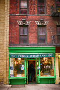 Brick Buildings Prints - Bread store New York City Print by Garry Gay