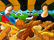 Marketplace Painting Prints - Bread Print by William Cain