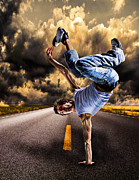 Break Dance Prints - Break Dance Print by Ian Hufton