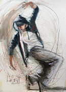 Degroat Painting Originals - Break Dancer1 by Gregory DeGroat