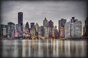 Nyc Skyline Framed Prints - Break Into Darkness Framed Print by Evelina Kremsdorf