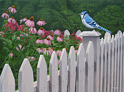 Bluejay Painting Metal Prints - Break of Dawn Metal Print by Ron Plaizier