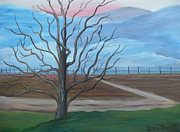 Dirt Road Paintings - Break of Day by Glenda Barrett