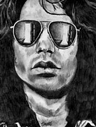 Jim Morrison Drawings Prints - Break On Through Print by Jeremy Moore
