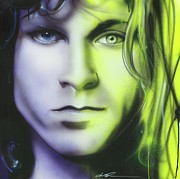 Jim Morrison Acrylic Prints - Break on Through to Lithium Acrylic Print by Christian Chapman Art