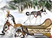 Break Time-created At Age 14 Print by  Amasepiachan  Gittens-Jones