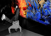 Break Dance Prints - Breakdance Uk  Print by Rob Hawkins