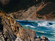 Bill Gallagher Metal Prints - Breakers at Pt Reyes Metal Print by Bill Gallagher