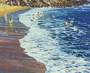 Enjoyment Painting Framed Prints - Breakers Framed Print by Martin Decent