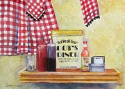 Rack Paintings - Breakfast At Dots by Donlyn Arbuthnot