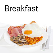 Mushrooms Posters - Breakfast Concept Poster by Colin and Linda McKie