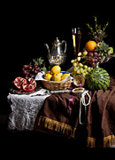 Banquet Photos - Breakfast piece with Fruits and Flute Glass by Levin Rodriguez