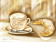 Coffee Digital Art - Breakfast by Veronica Minozzi