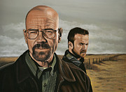 Aaron Framed Prints - Breaking Bad Framed Print by Paul  Meijering