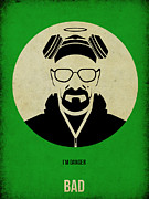 Film Mixed Media Metal Prints - Breaking Bad Poster Metal Print by Irina  March