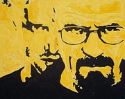 Bad Drawing Painting Framed Prints - Breaking Bad Yellow Framed Print by Marisela Mungia