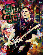 Rock And Roll Art Painting Originals - Breaking Benjamin by Ryan Rabbass