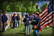 American Civil War Photos - Breaking Camp - Civil War by Lee Dos Santos