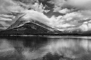 Glacier National Park Prints - Breaking Clouds Print by Andrew Soundarajan