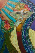 Sacred Feminine Paintings - Breaking Free by Havi Mandell