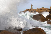 Rocky Coasts Framed Prints - Breaking of Waves Framed Print by Heiko Koehrer-Wagner