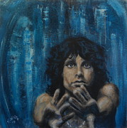 Jim Morrison Prints - Breaking On Through To The Other Side  Print by Karen White