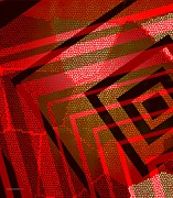Geometry Digital Art - Breaking Red by Mario  Perez