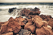 Conditions Metal Prints - Breaking The Waves Metal Print by Stylianos Kleanthous