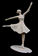 Ballerina Sculpture Posters - Breaking Through Poster by Samantha Stutzman