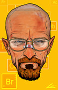 Chemicals Digital Art Prints - Breaking Walter White Print by Chuck Styles