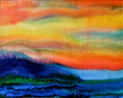 Silk On Canvas Originals - Breaking Wave by Barbara Alloway