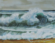 Barry Williamson - Breaking wave Castlerock