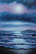 Inspirational Paintings - Breaking Waves Coumeenole Beach  by John  Nolan
