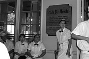 Waitresses Posters - Breaktime at Cafe du Monde Poster by Maura Satchell