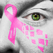 Make-up Posters - Breast Cancer Awareness Poster by Semmick Photo