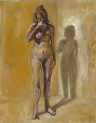 Disorder Paintings - Breast Cancer. by Nurit Shany
