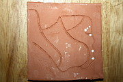 Ugandan Ceramicist Ceramics - Breath - tile by Gloria Ssali