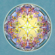 Breathing Painting Posters - Breath of Life Mandala Poster by Jo Thomas Blaine
