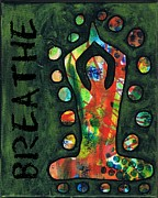 Breathe Mixed Media Posters - Breathe Poster by Kelly Corso