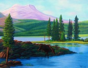 Landscape With Mountains Originals - Breathtaking Moments by Cynthia Stewart