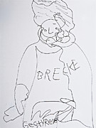 Relaxed. Drawings Prints - Brecke Print by Stephanie Ward