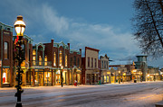 Colorado Prints Prints - Breckenridge Main Street Print by Michael J Bauer