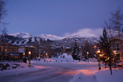 Colorado Prints Posters - Breckenridge Morning Life Poster by Michael J Bauer
