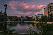 Colorado Prints Framed Prints - Breckenridge Village Sunset Pond Framed Print by Michael J Bauer