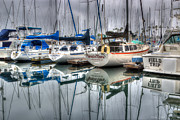 Docked Boats Framed Prints - Breezn Thru Framed Print by Heidi Smith