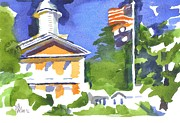 Greens Paintings - Breezy Morning at the Courthouse by Kip DeVore