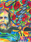 Kevin J Cooper Artwork Posters - Brent Mydland ONE Poster by Kevin J Cooper Artwork