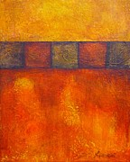 Warm Colors Painting Posters - Bresciano Poster by Nancy Garbarini